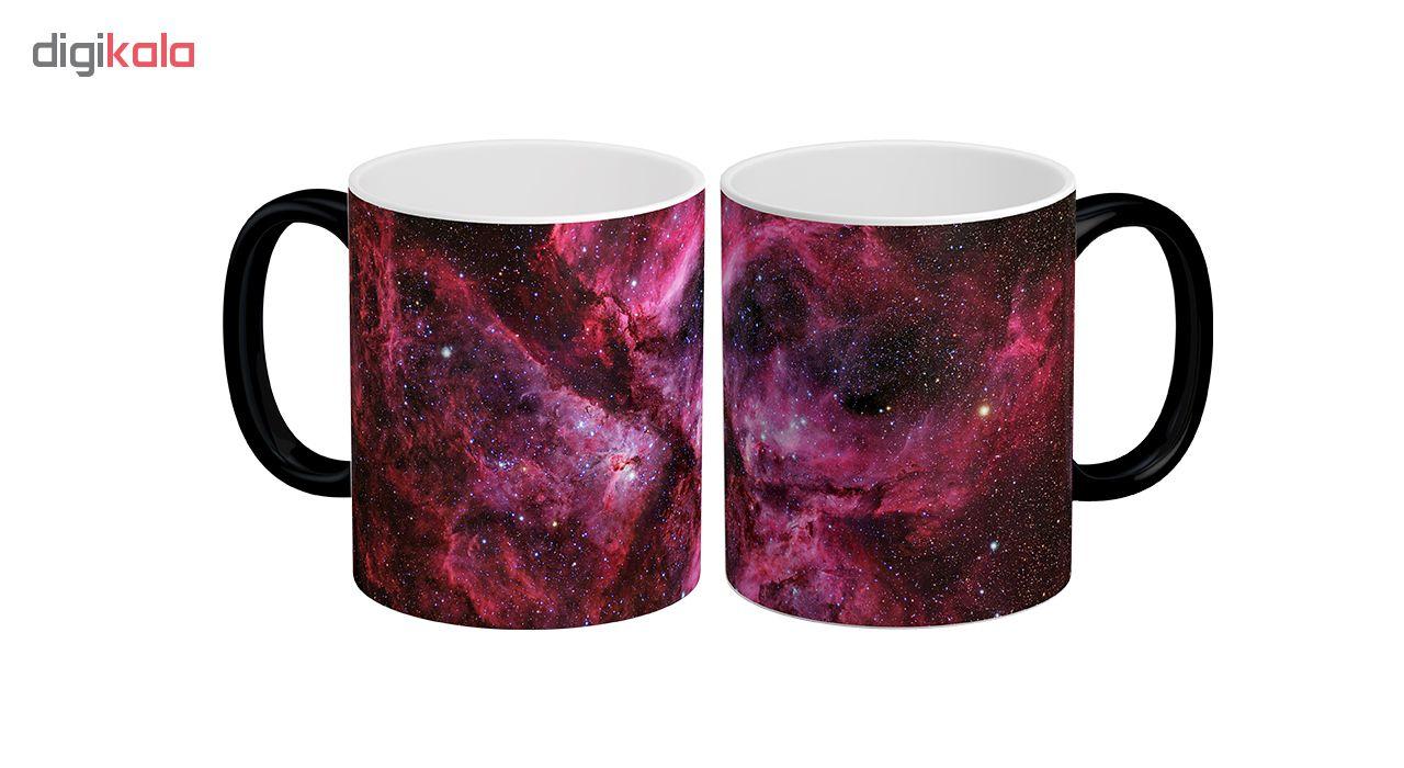 ماگ حرارتی لومانا طرح کهکشان کد MAG1611