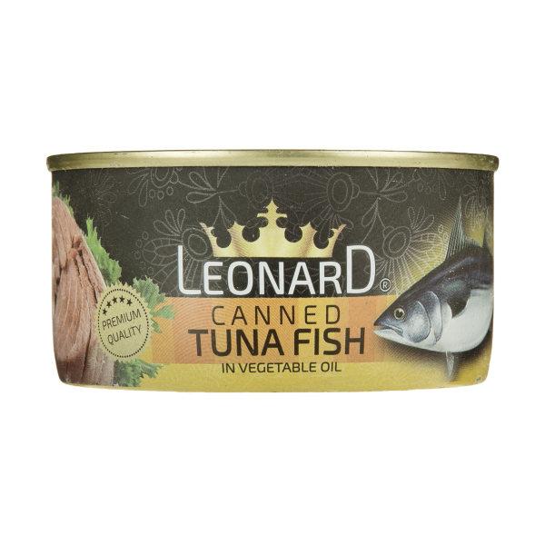 کنسرو ماهی تن در روغن گیاهی لئونارد وزن 180 گرم