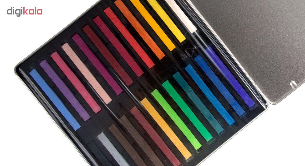 پاستل گچی 24 رنگ کرتاکالر کد 48024 main 1 4