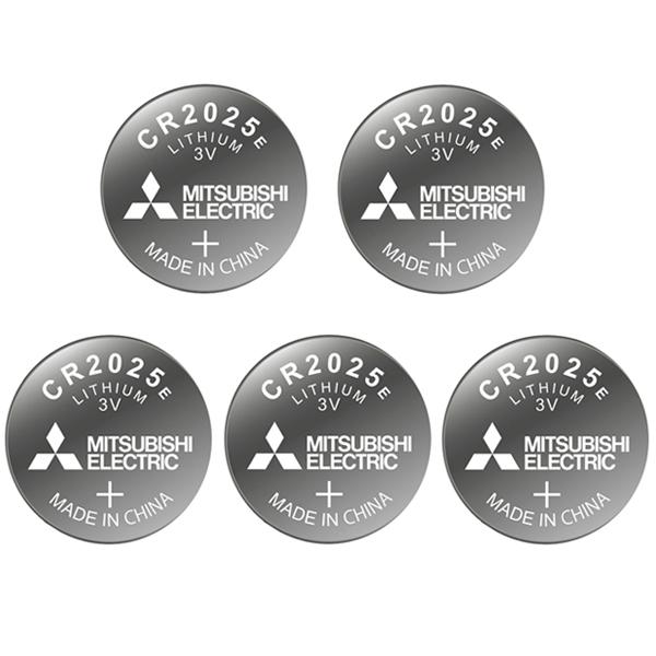 باتری سکه ای میتسوبیشی الکتریک کد 2025 بسته 5 عددی