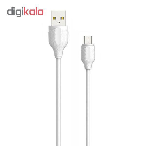 کابل تبدیل USB به microUSB الدینیو مدل LS38 طول 0.3 متر main 1 1