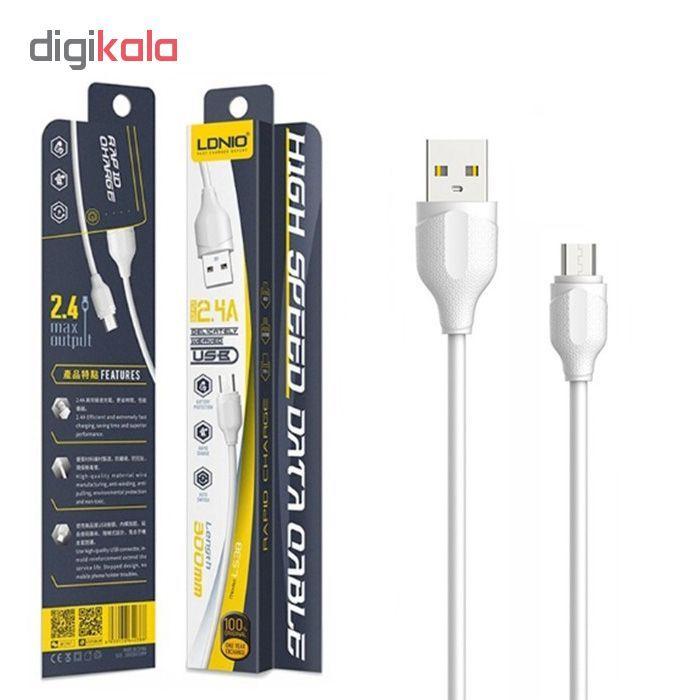 کابل تبدیل USB به microUSB الدینیو مدل LS38 طول 0.3 متر main 1 2