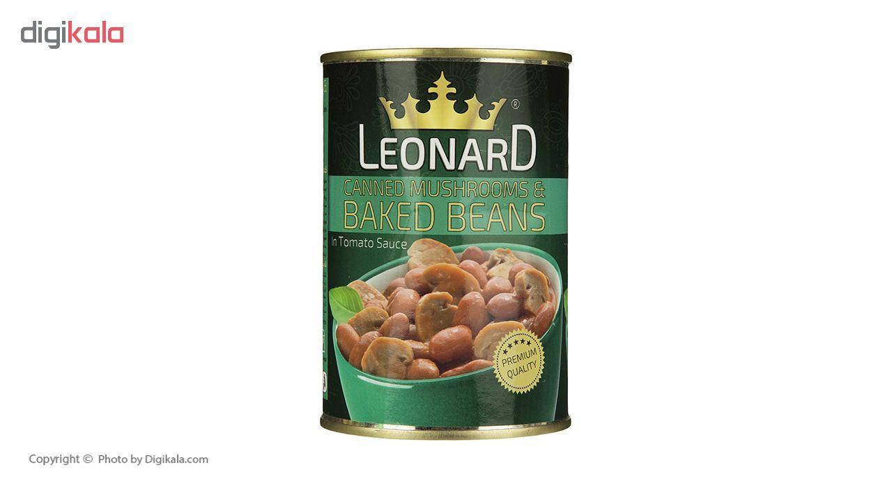 کنسرو لوبیا چیتی با قارچ لئونارد - 420 گرم main 1 3