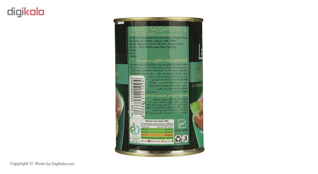 کنسرو لوبیا چیتی با قارچ لئونارد - 420 گرم main 1 4