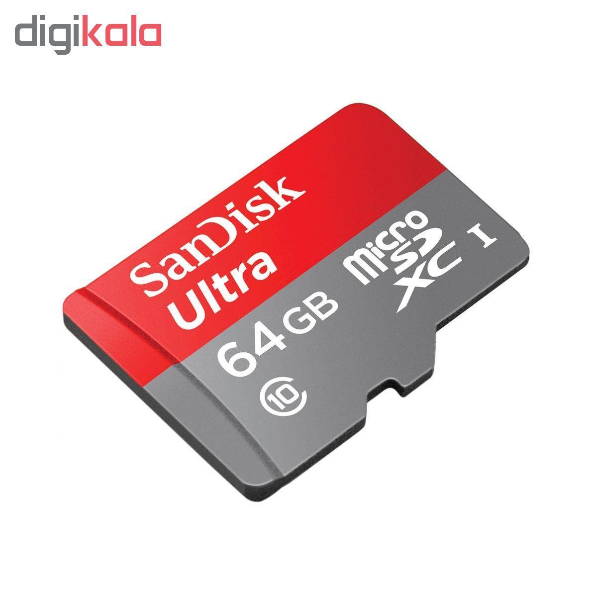 کارت حافظه microSDXC سن دیسک مدل Ultra A1 کلاس 10 استاندارد UHS-I سرعت 100MBps ظرفیت 64 گیگابایت main 1 1