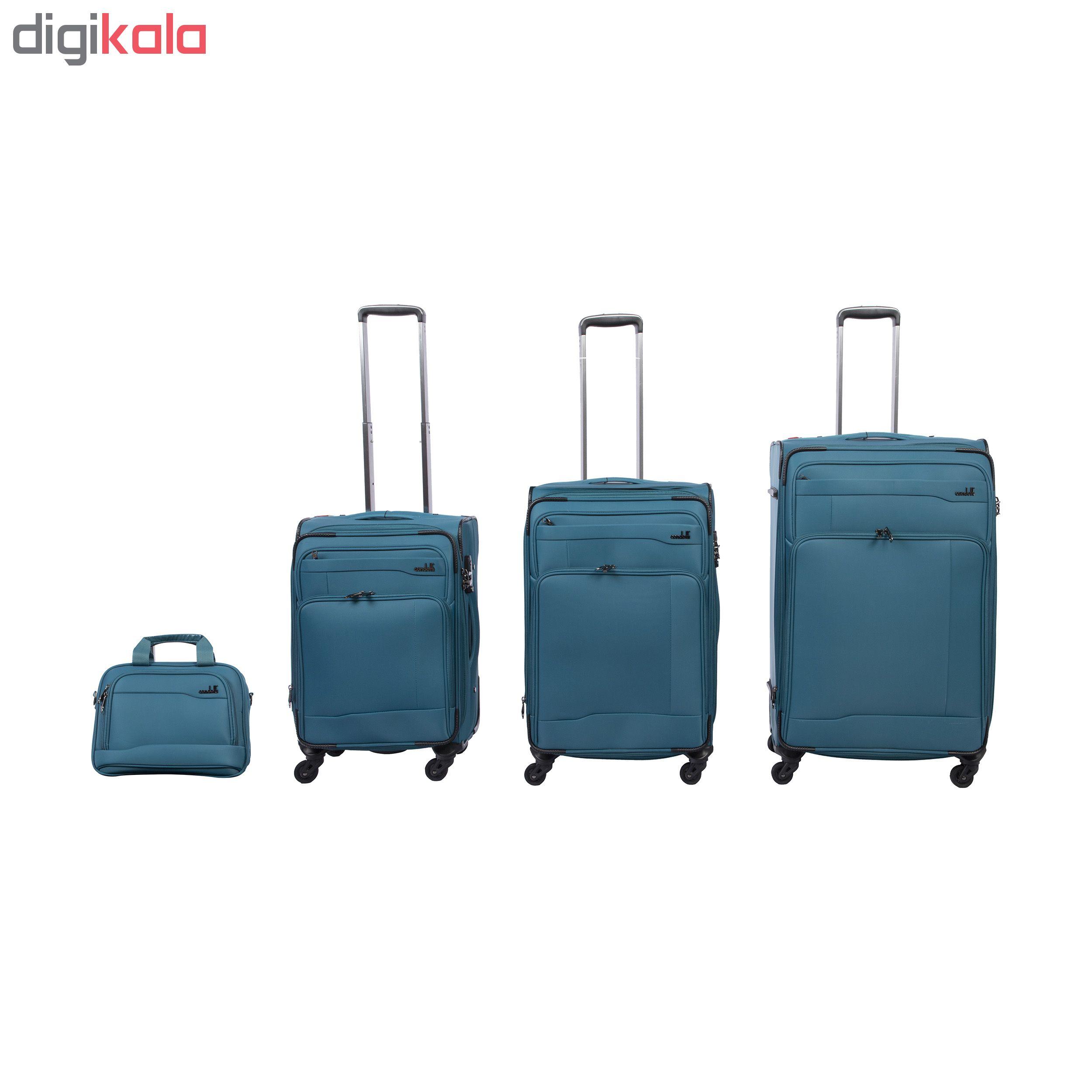 مجموعه چهار عددی چمدان کندوتی کد 1043