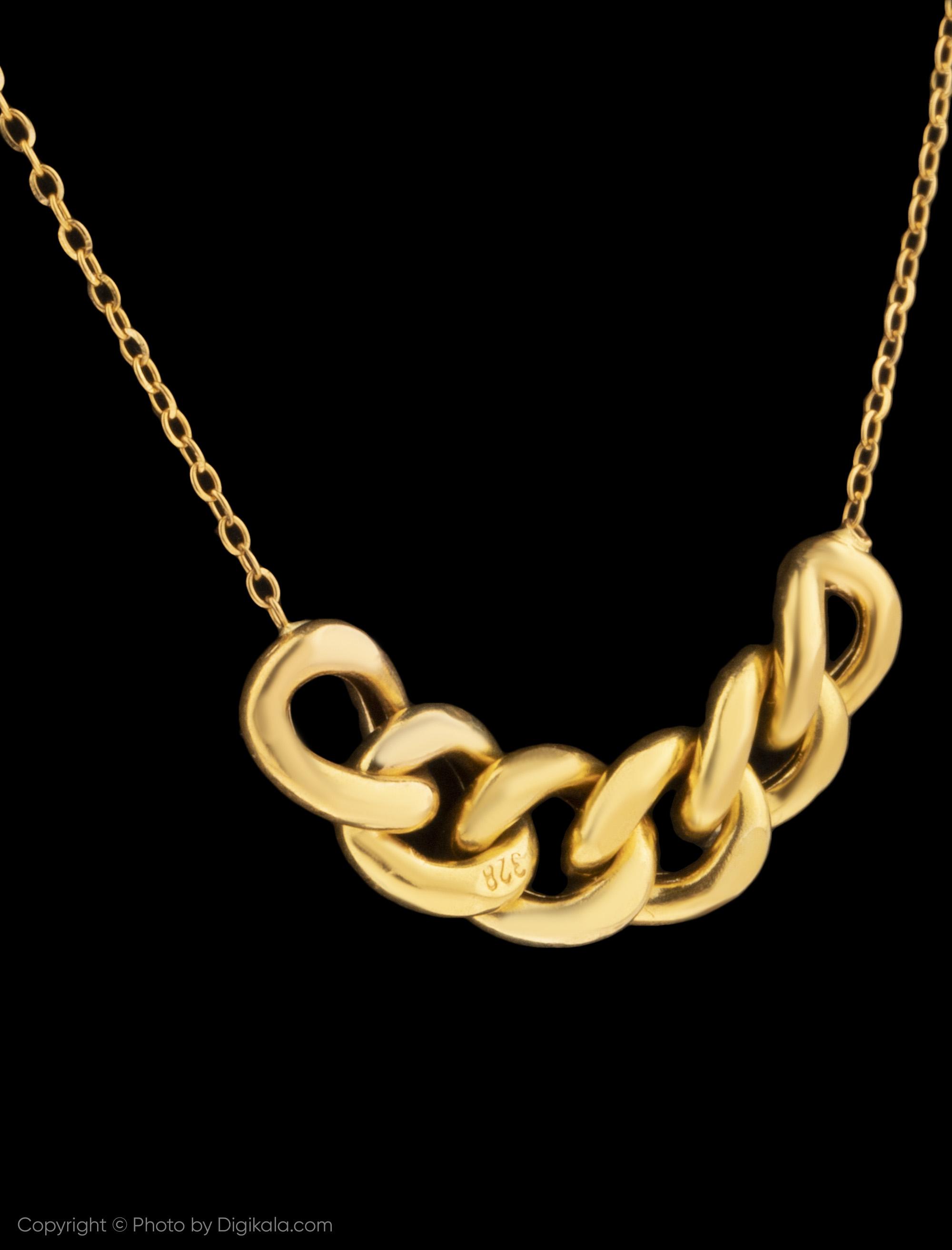 گردنبند طلا 18 عیار زنانه میو استار مدل Nc110