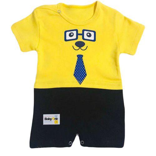 سرهمی نوزادی پسرانه طرح عینک کد 201