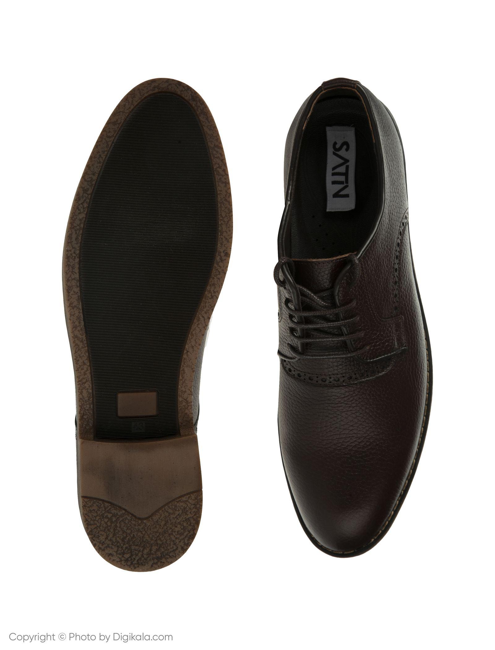 کفش مردانه ساتین مدل SN7175A-104 -  - 5