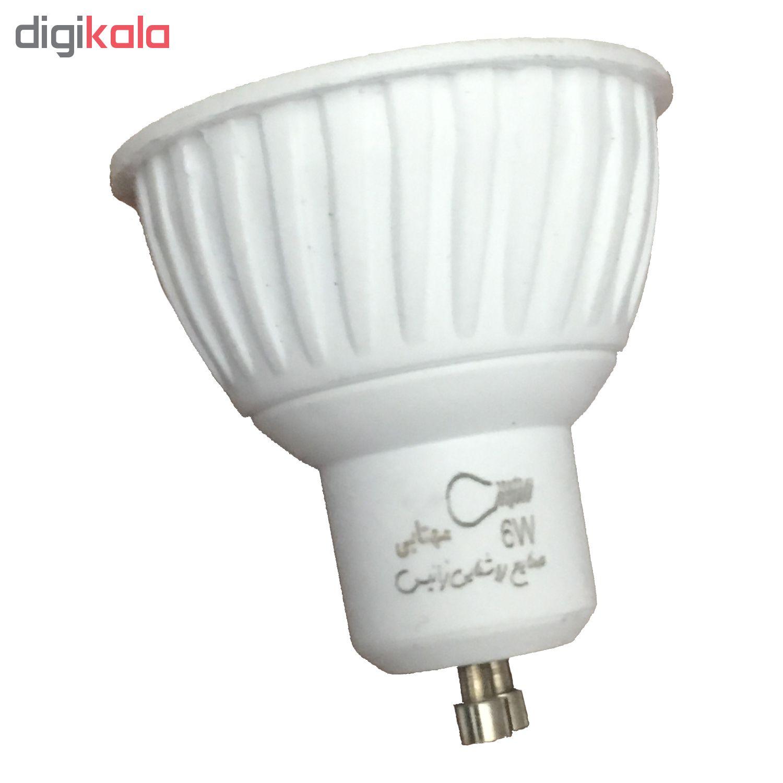 لامپ هالوژن 6 وات صنایع روشنایی زانیس مدل ZGU10 بسته 5 عددی