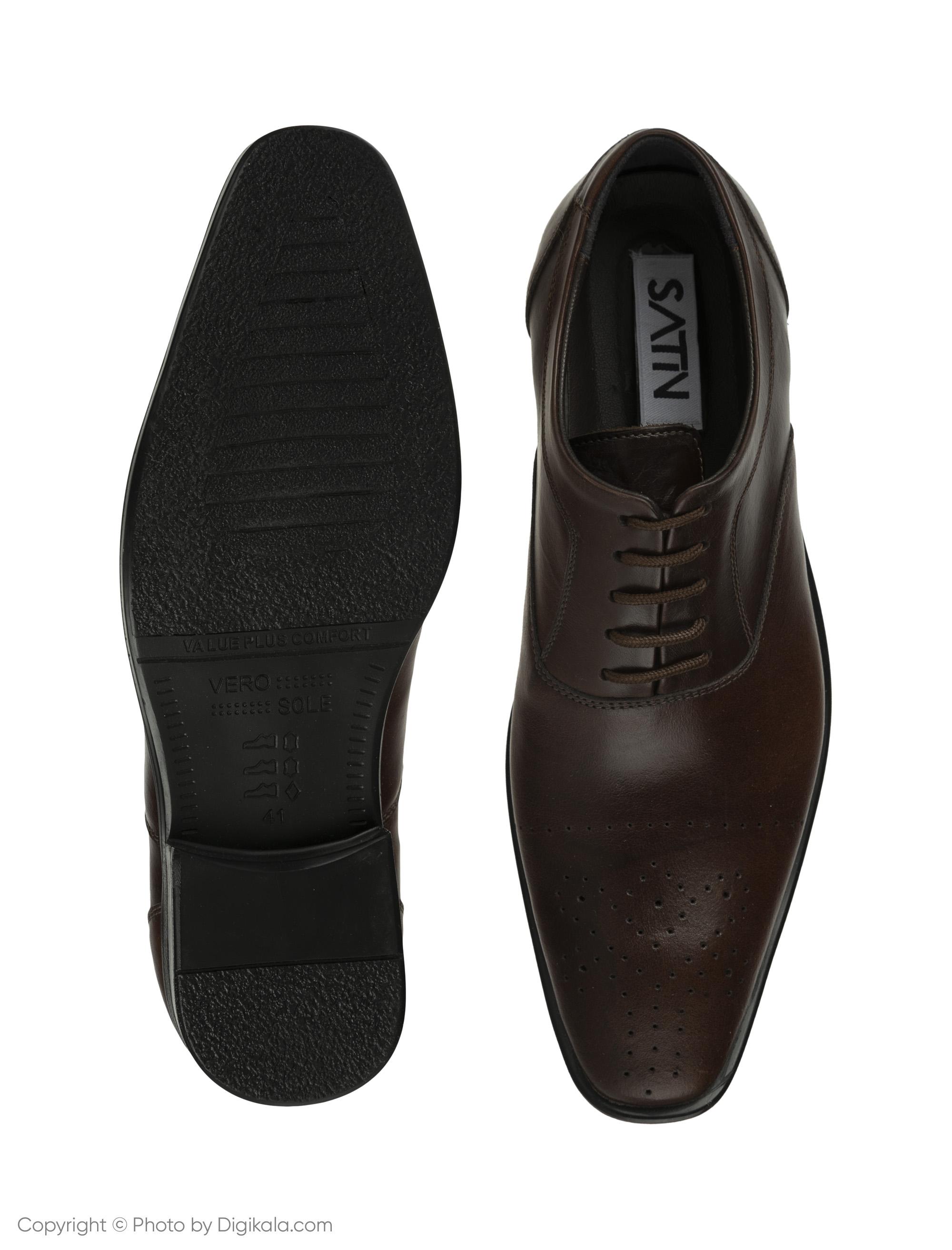 کفش مردانه ساتین مدل SN7093A-104 -  - 5
