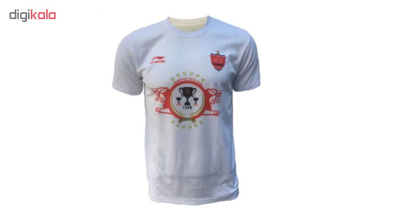 تی شرت ورزشی مردانه لینینگ طرح تیم پرسپولیس کد ۱۲۴۳