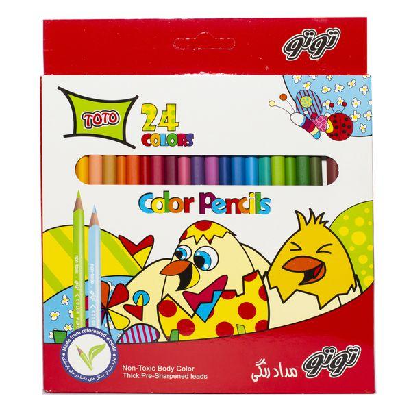 مداد رنگی 24 رنگ توتو کد 3112