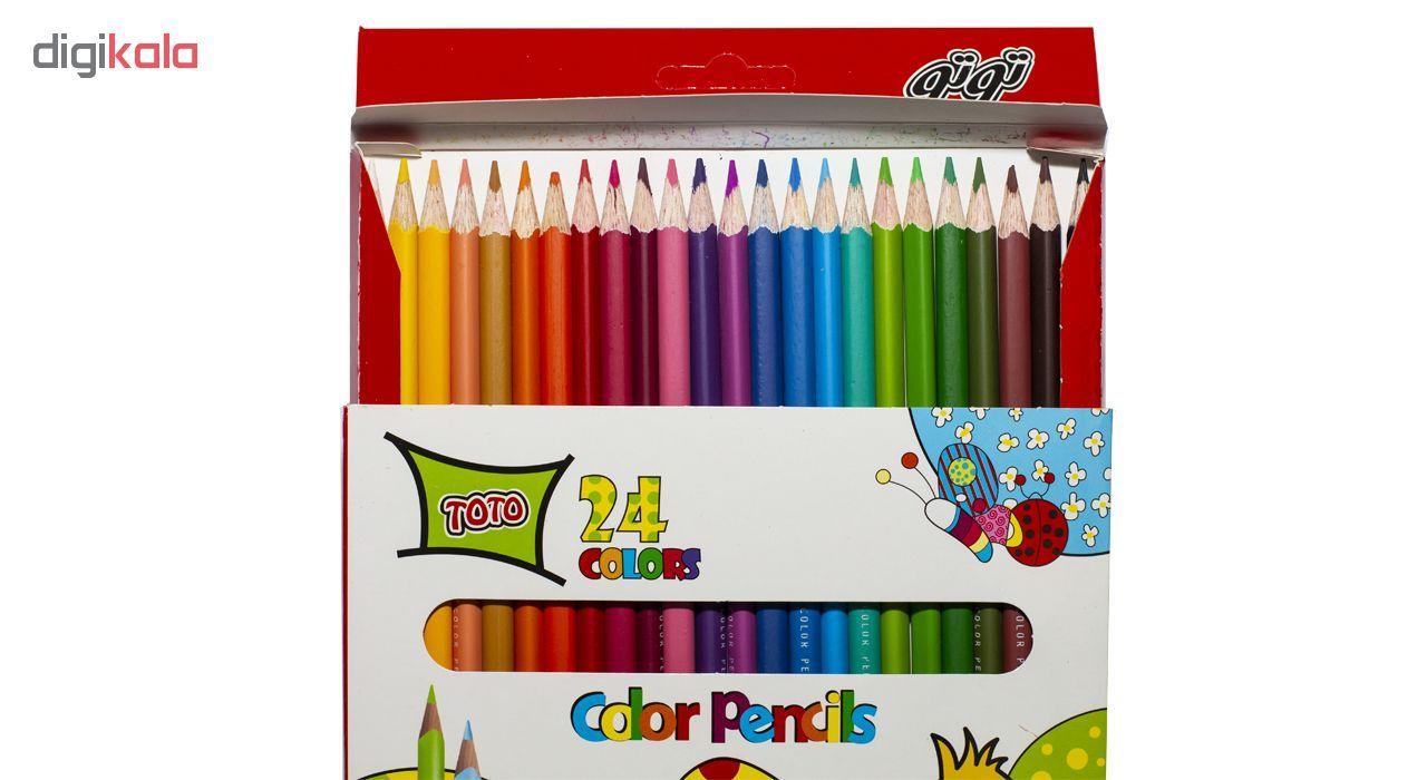 مداد رنگی 24 رنگ توتو کد 3112 main 1 2