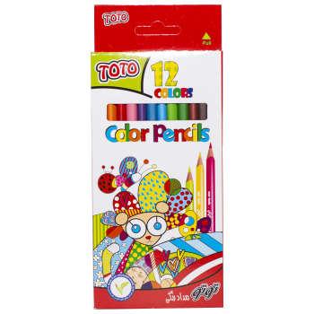 مداد رنگی 12 رنگ توتو کد 3110