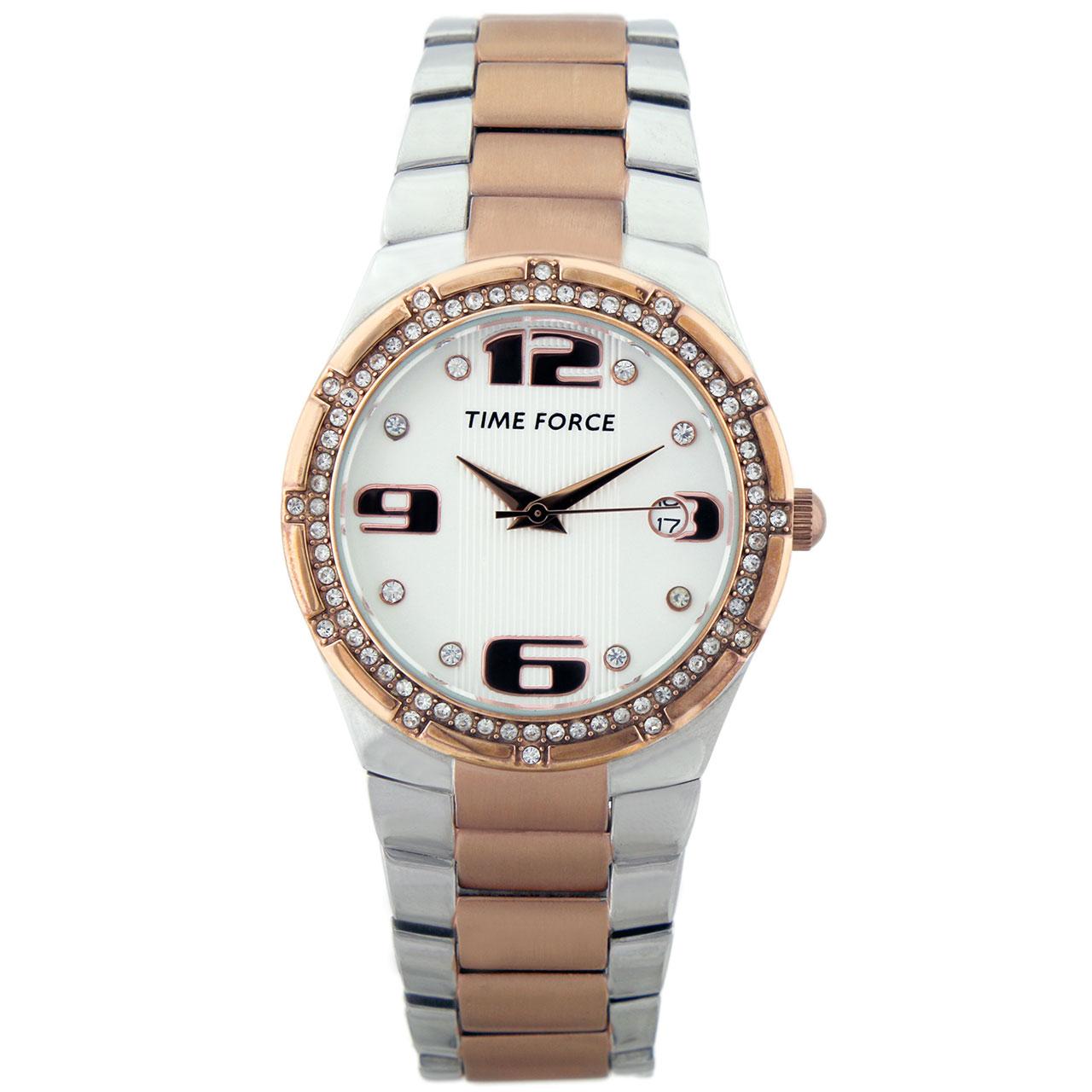ساعت مچی عقربه ای زنانه تایم فورس مدل TF3371L11M