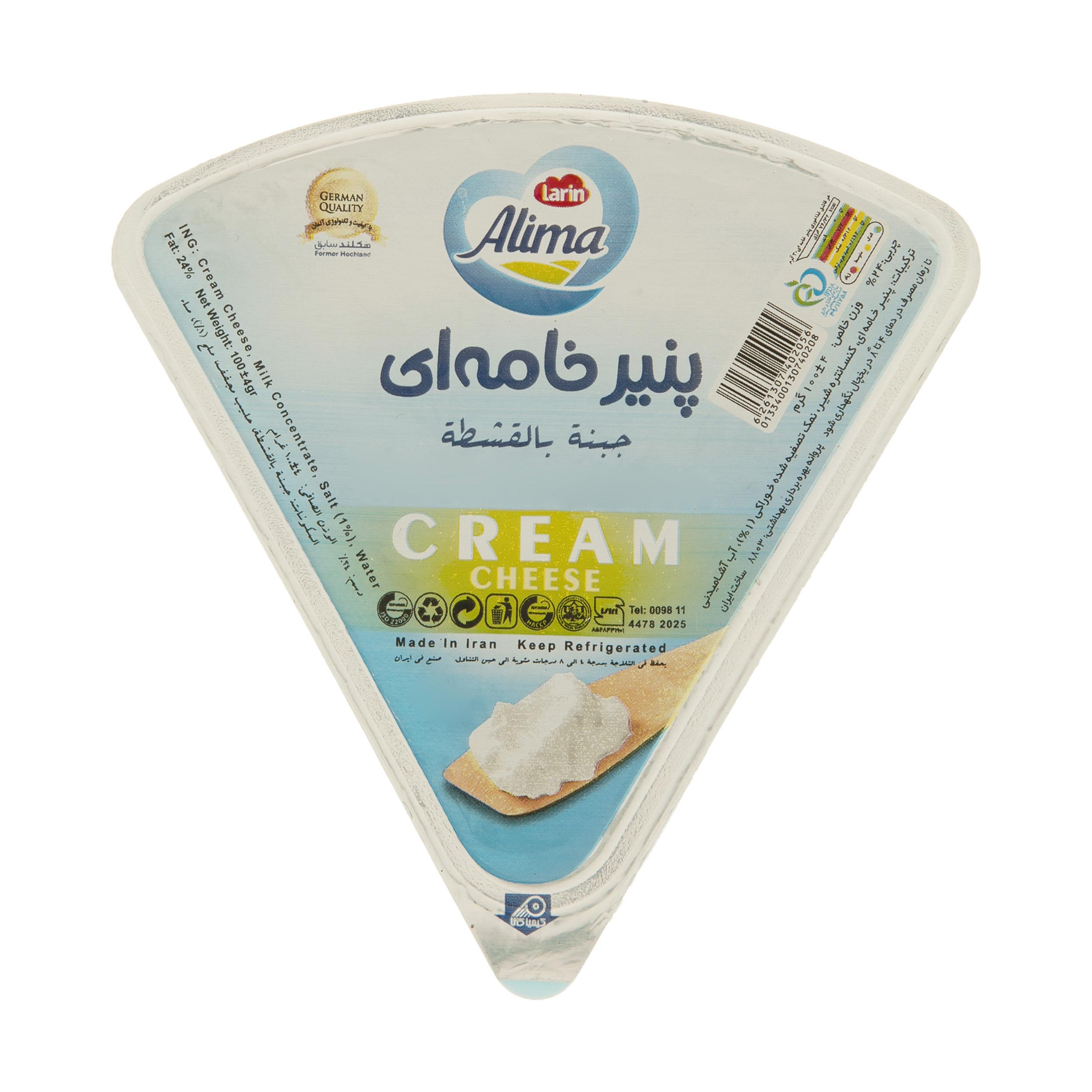 پنیر خامه مثلثی آلیما وزن 100 گرم