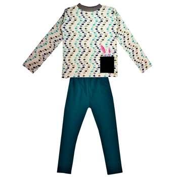 ست تی شرت شلوار دخترانه بانامان کد b700
