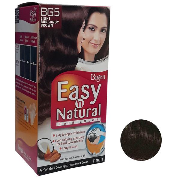 کیت رنگ مو بیگن سری Easy Natural شماره BG5 حجم 75 میلی لیتر رنگ قهوه ای ماهاگونی