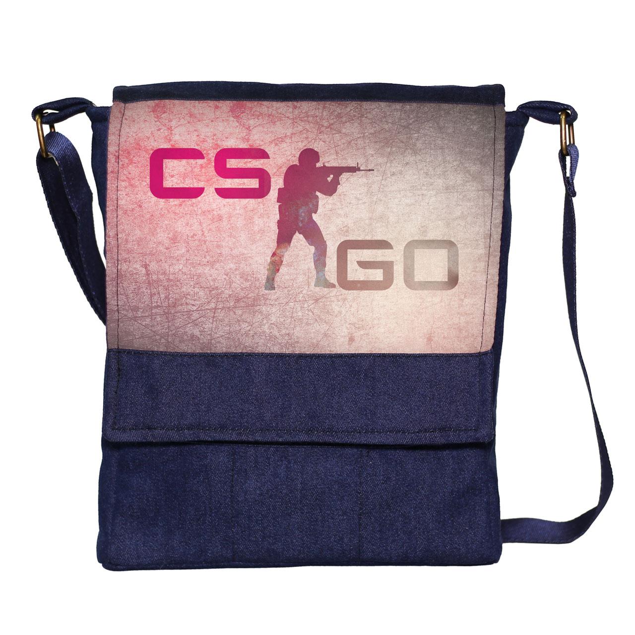 قیمت کیف دوشی مردانه گالری چی چاپ طرح COUNTER CSGO کد 1069