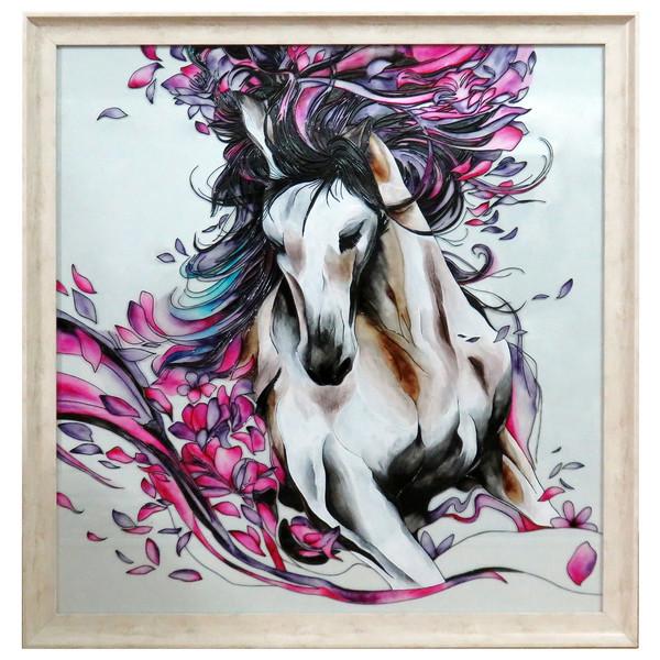 تابلوی ویترای طرح اسب