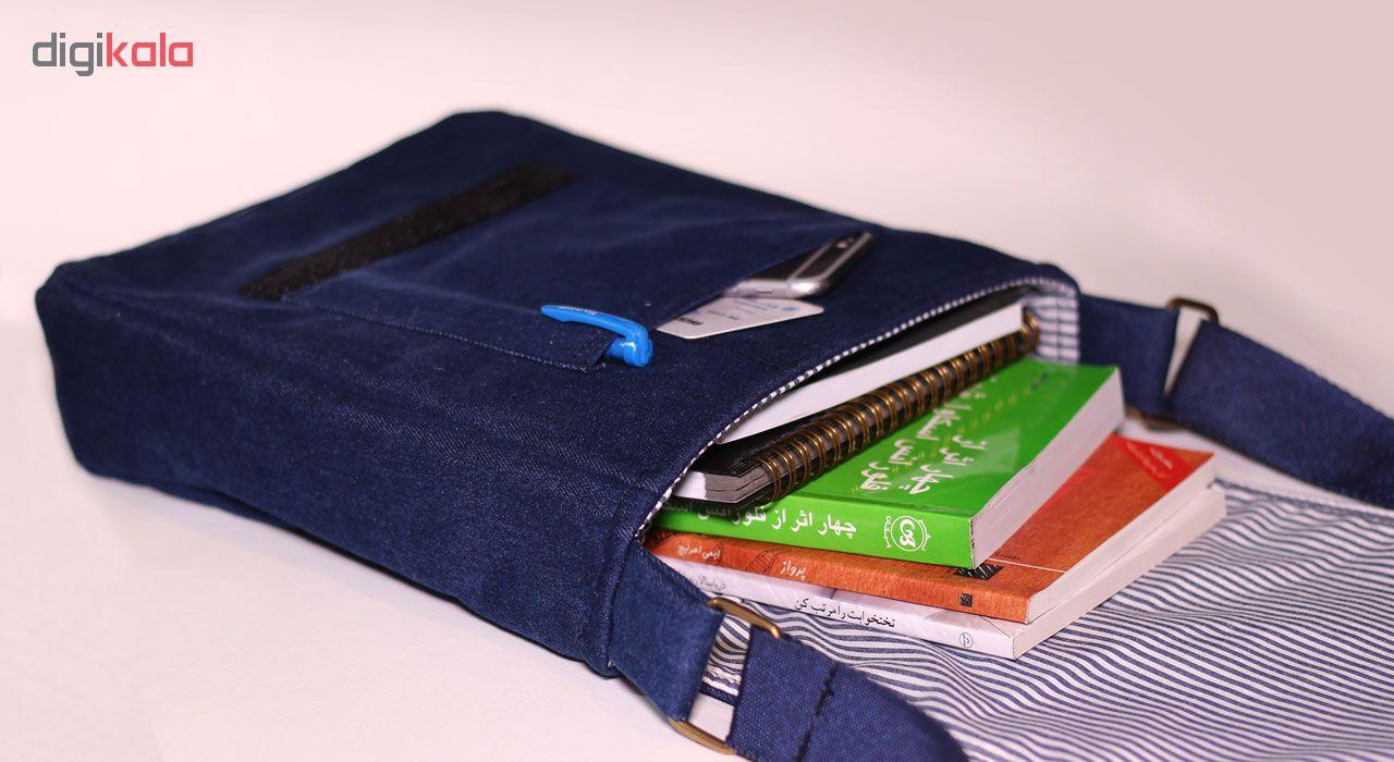 کیف دوشی مردانه گالری چی چاپ کد 1067