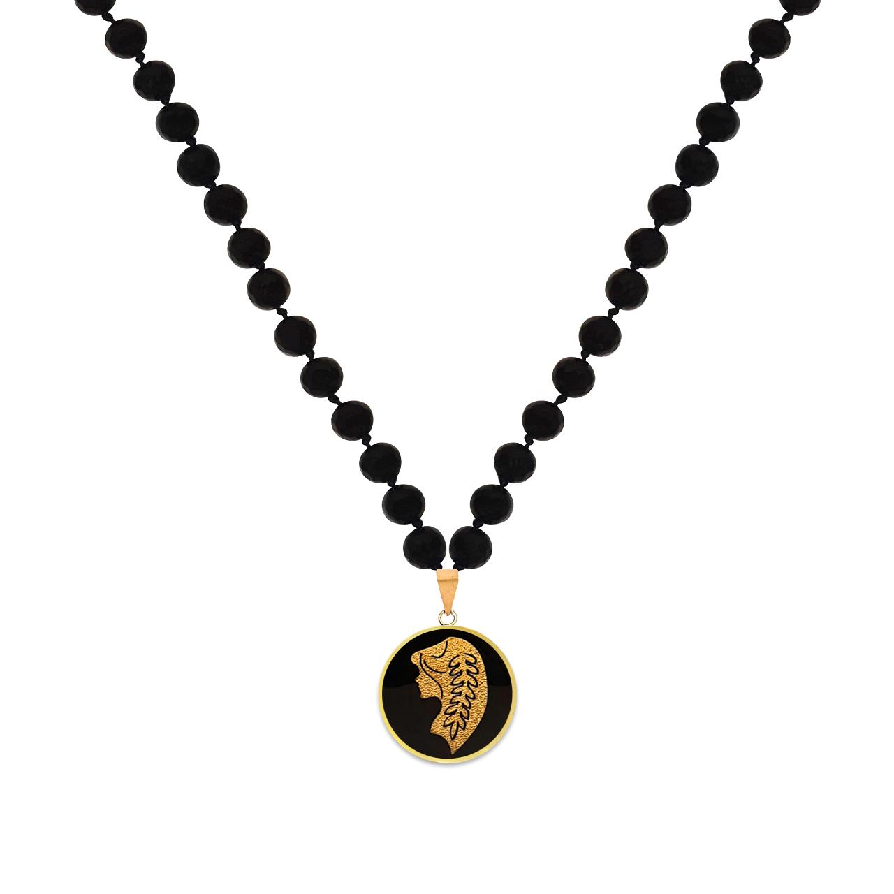 گردنبند طلا 24 عیار زنانه مارک گلد طرح ماه شهریور