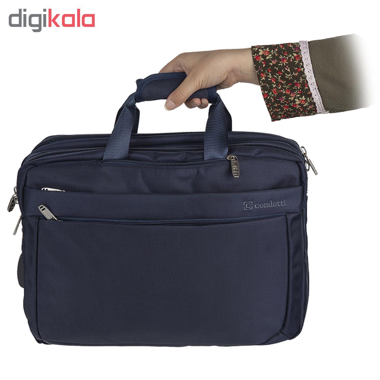 کیف لپ تاپ کندوتی مدل RC-400-1 مناسب برای لپ تاپ 15.6 اینچ به همراه کیف رودوشی