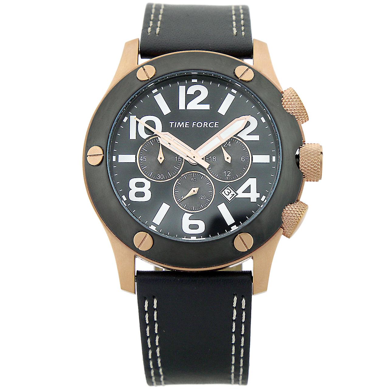 ساعت مچی عقربه ای مردانه تایم فورس مدل  TF3089M11