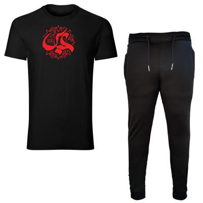 تصویر ست تی شرت و شلوار مردانه طرح حضرت عباس کد b11051