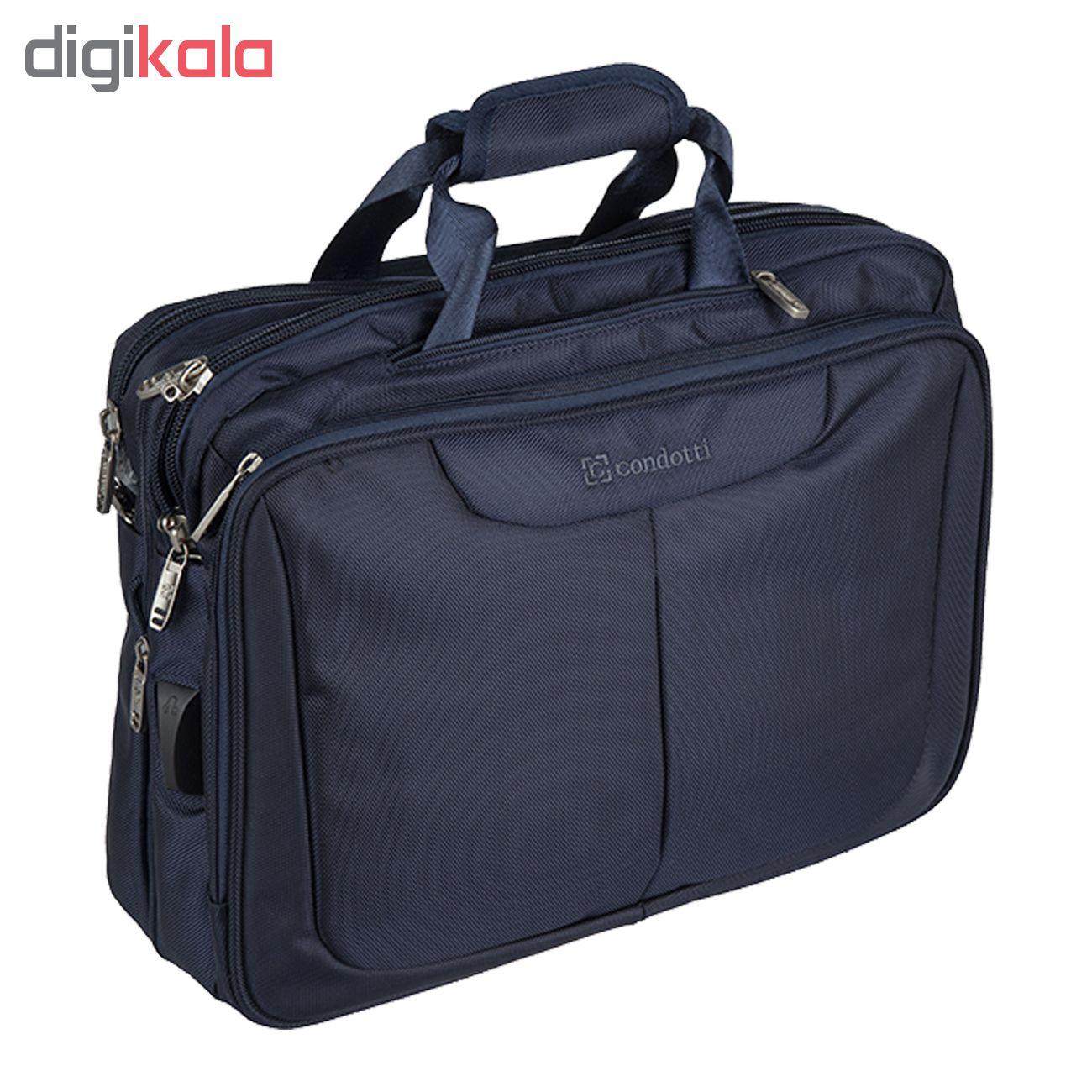 کیف لپ تاپ کندوتی مدل TE-370-1 مناسب برای لپ تاپ 15.6 اینچ به همراه کیف رودوشی