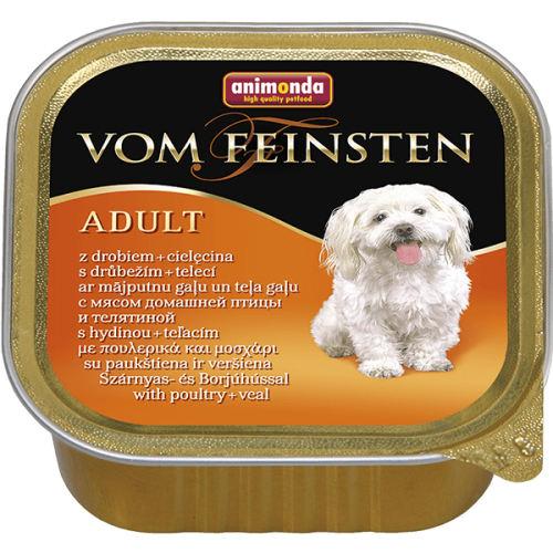 کنسرو غذای سگ آنیموندا مدل Poultry veal وزن 150 گرم