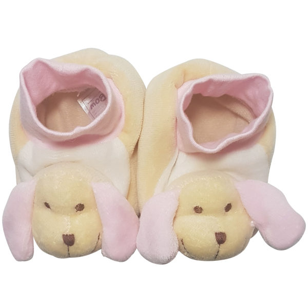 پاپوش نوزادی دخترانه بی بی بو طرح سگ مدل n150