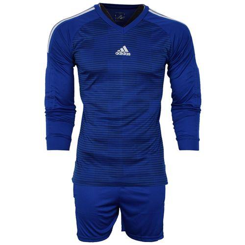ست پیراهن و شورت ورزشی مردانه طرح دروازبانی فوتبال مدل A01 رنگ آبی