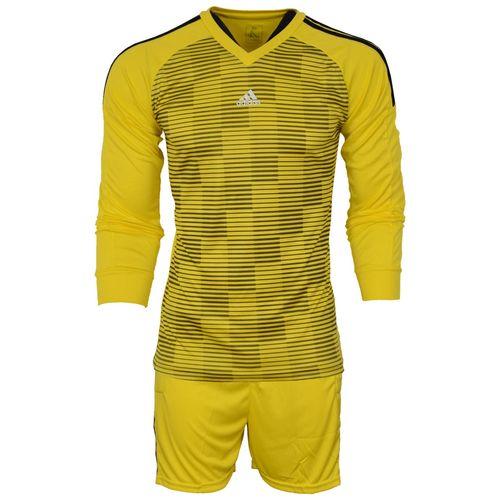 ست پیراهن و شورت ورزشی مردانه طرح دروازبانی مدل A02 رنگ زرد