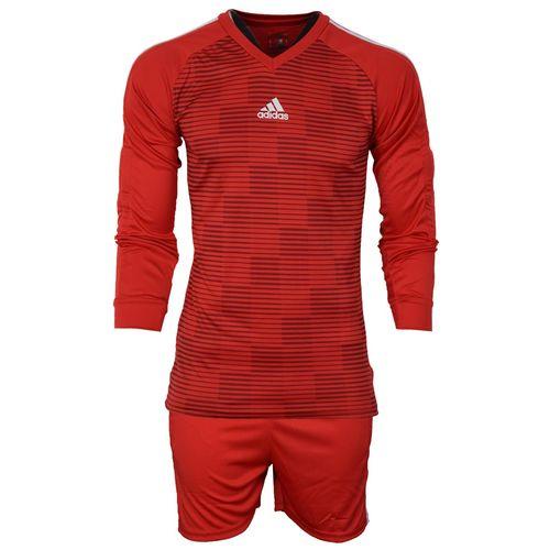 ست پیراهن و شورت ورزشی مردانه طرح دروازبانی فوتبال مدل A03 رنگ قرمز