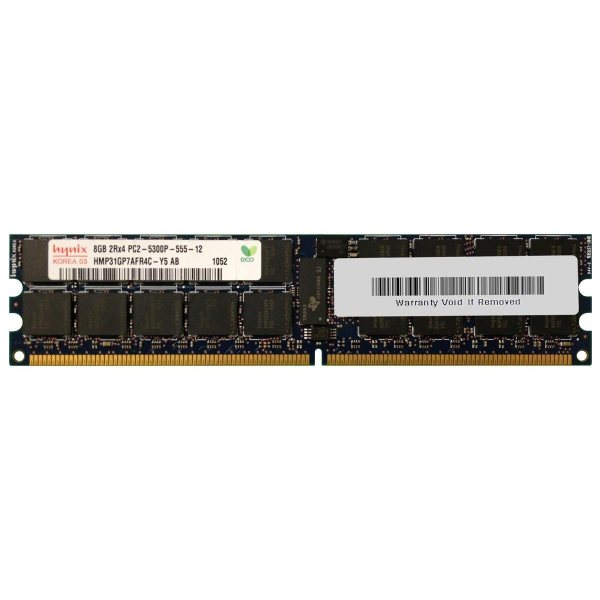 رم سرور DDR2 تک کاناله 667 مگاهرتز CL5 هاینیکس مدل HMP31GP7AFR4C-Y5 ظرفیت 8 گیگابایت