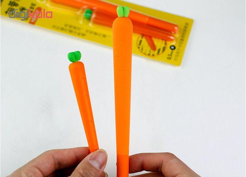 خرید لوازم تحریر فانتزی - خودکار فانتزی با طرح هویج به همراه پاک کن در دست