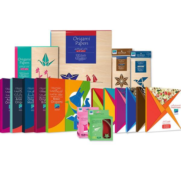 مجموعه حرفه ای کاغذ اوریگامی اوریمان