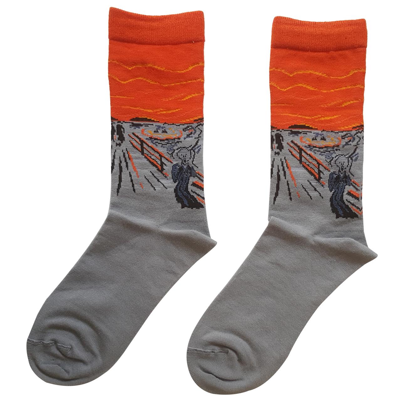 جوراب مردانه ال سون طرح جیغ کد PH162