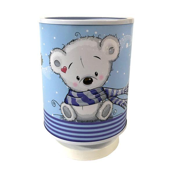 چراغ خواب کودک طرح خرس شال دار کد 012
