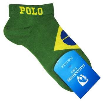 جوراب مردانه جهانشیری طرح پرچم برزیل