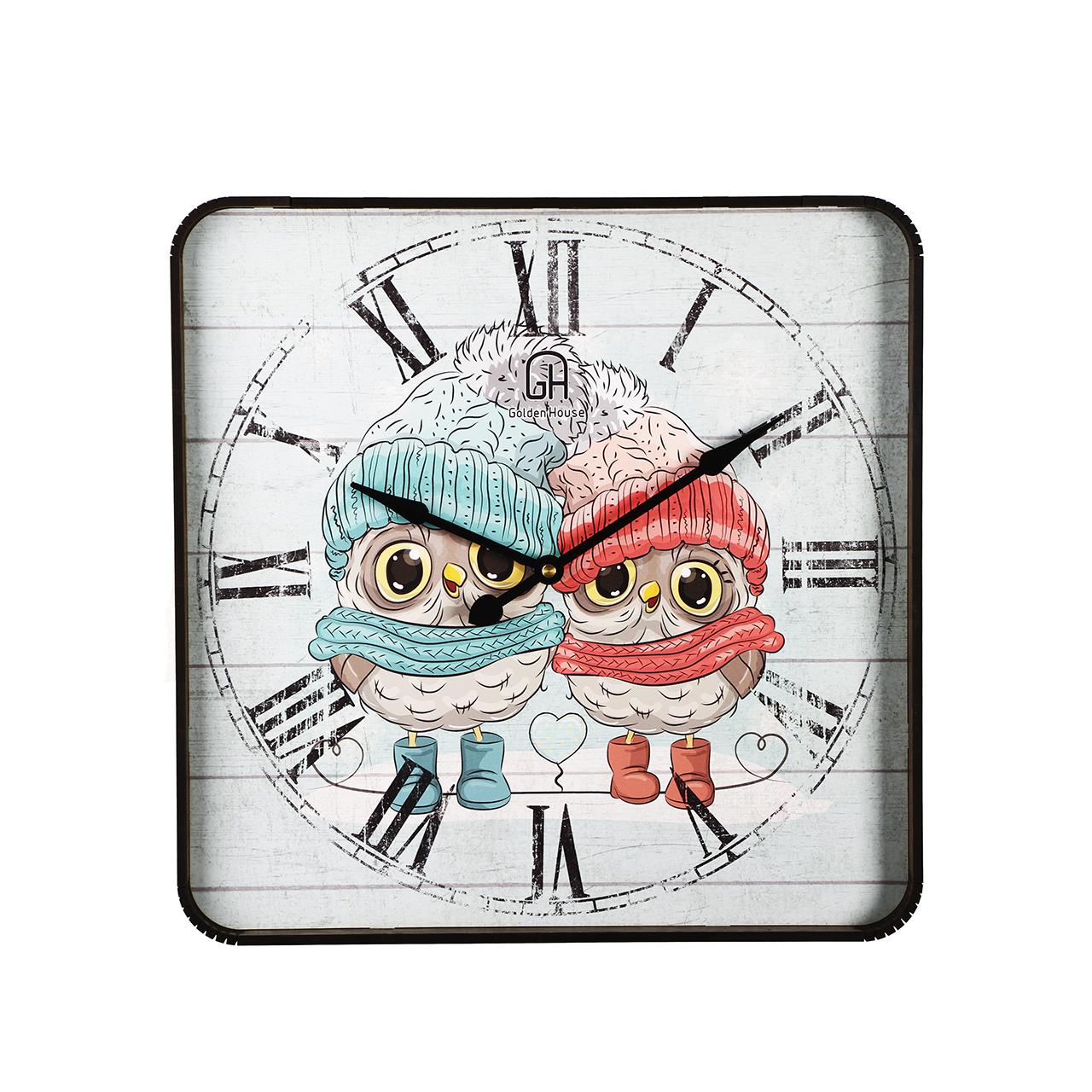 ساعت دیواری گلدن هاوس مدل GLDHS_12 کد DLT-B1000-15