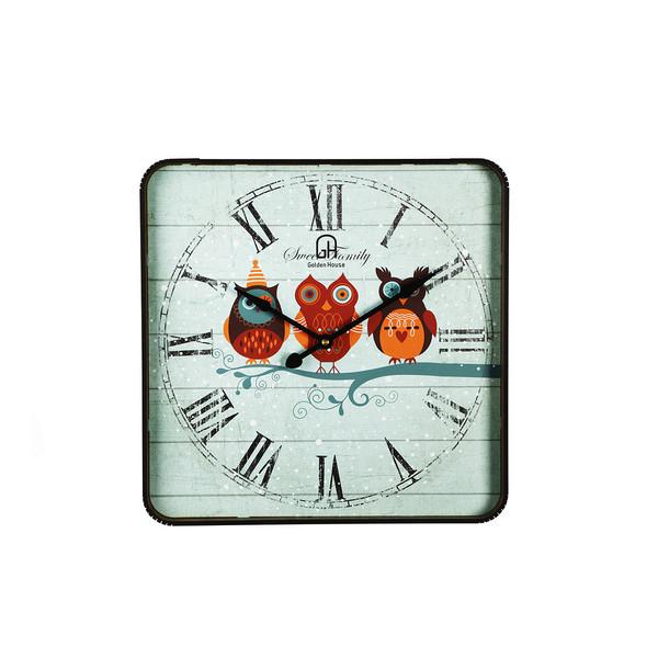 ساعت دیواری گلدن هاوس مدل GLDHS-12 کد DLT-B1000-20