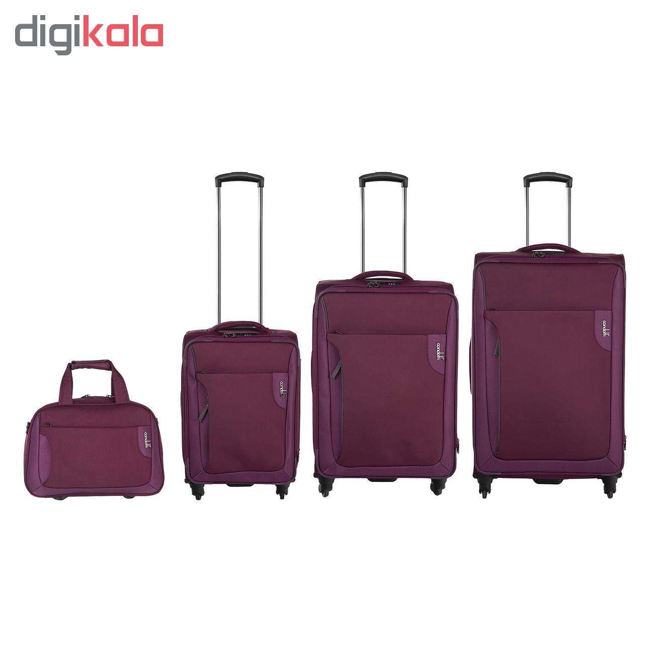 مجموعه 4 عددی چمدان کندوتی کد C-2018