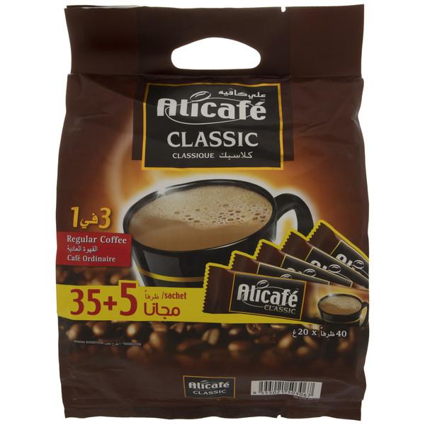 قهوه فوری علی کافه مدل کلاسیک بسته 40 عددی