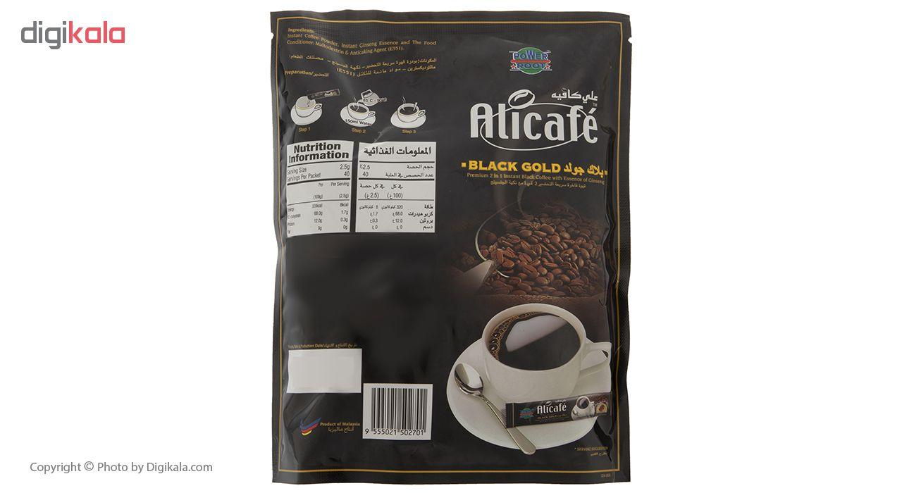 پودر قهوه علی کافه مدل Black Gold بسته 40 عددی