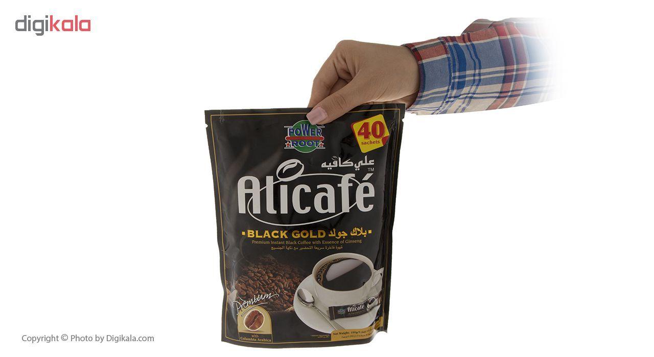 پودر قهوه علی کافه مدل Black Gold بسته 40 عددی main 1 3