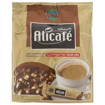 پودر قهوه علی کافه با طعم جینسنگ بسته 20 عددی