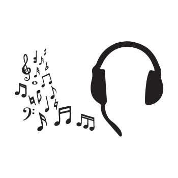 استیکر لپ تاپ طرح موزیک مجموعه ۲ عددی